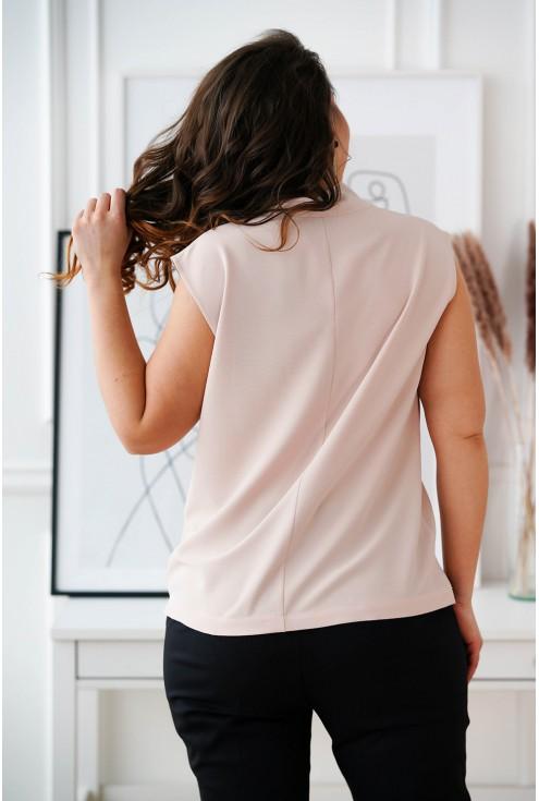 Brudny róż szyfonowa bluzka plus size Debbie