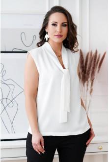 Biała szyfonowa bluzka XXL