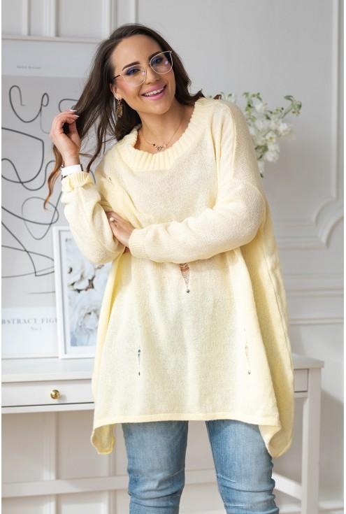 cytrynowy sweter plus size