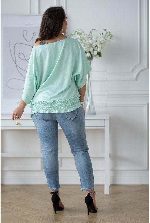 tył bluzki Malvina kolor pistacjowy