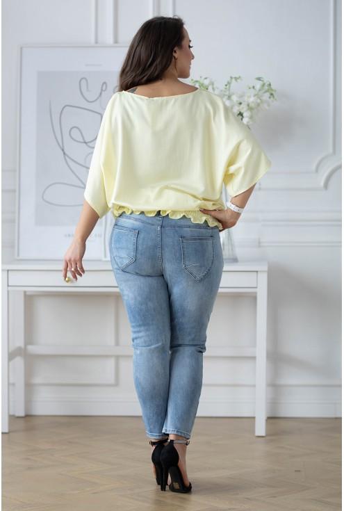 tył cytrynowej bluzki Marielle