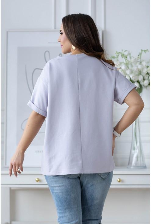 tył bluzki Islen w dużych rozmiarach