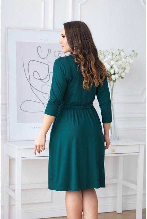 tył zielonej sukienki XXL