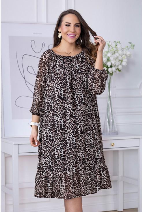 Sukienka hiszpanka wzór w panterkę