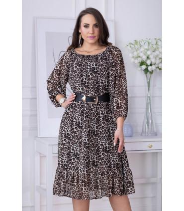 Sukienka hiszpanka wzór w panterkę - FOGGI