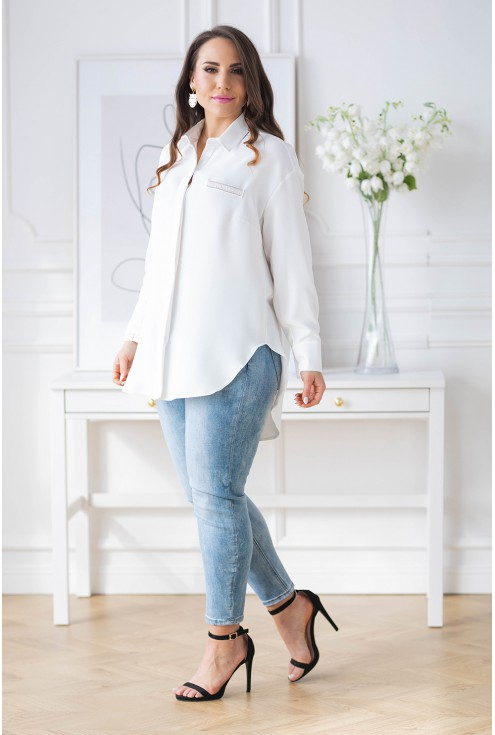biała koszula XXL Flavia