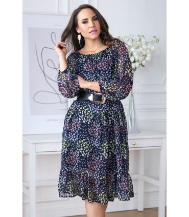 Sukienka hiszpanka wzór w kwiaty - FOGGI