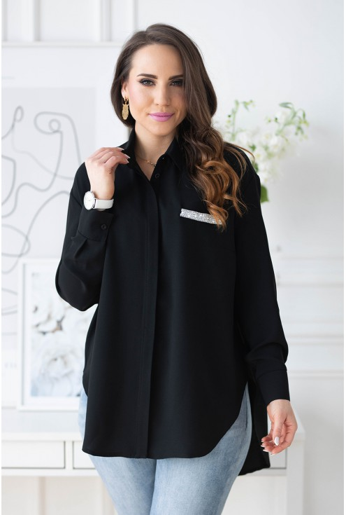 czarna koszula w dużych rozmiarach