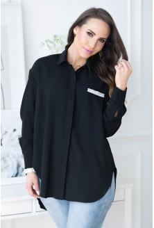 czarna koszula plus size
