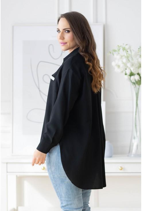 modna koszula z długim rękawem