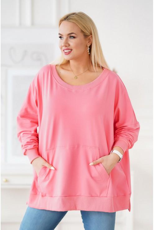 bluza ze ściągaczami różowa