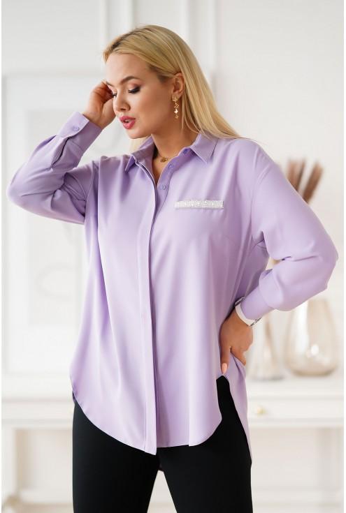 Liliowa koszula plus size