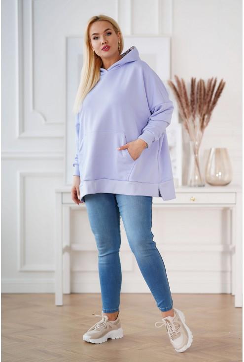 liliowa bluza oversize
