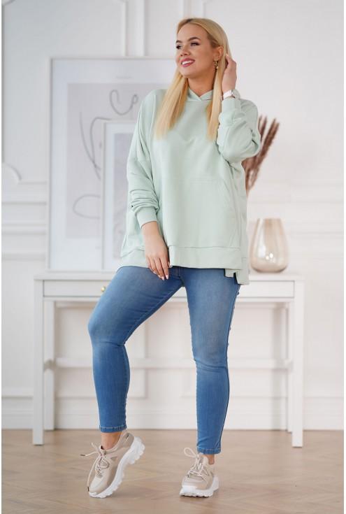 seledynowa bluza plus size