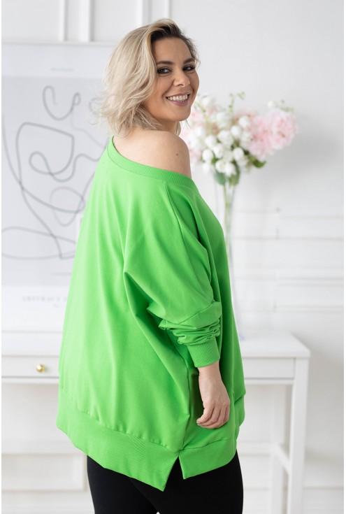 tył zielonej bluzy xxl
