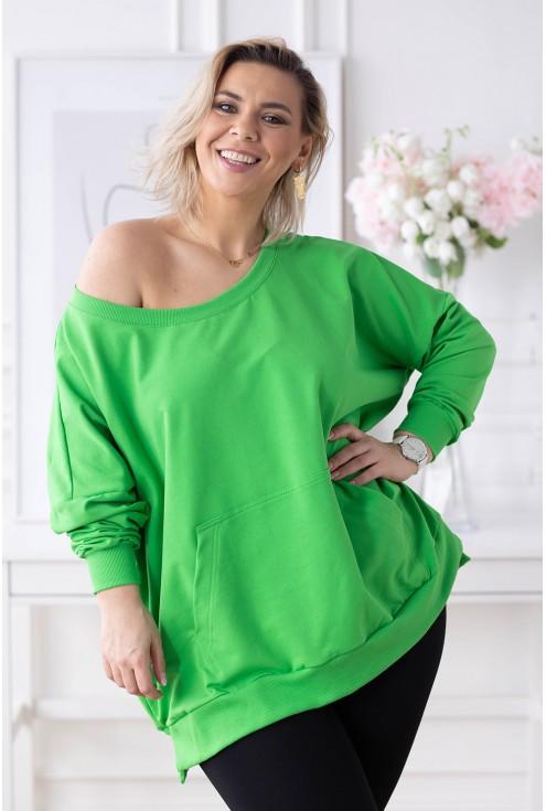zielona bluza plus size xxl