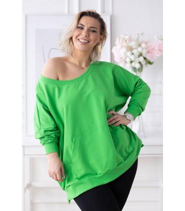 Zielona bluza oversize ze ściągaczami - CAMISA