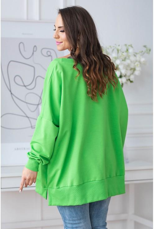 zielona bluza oversize xxl