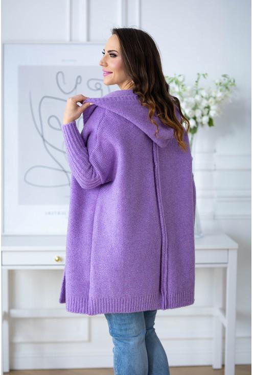 tył fioletowego swetra z kapturem sklep xlka