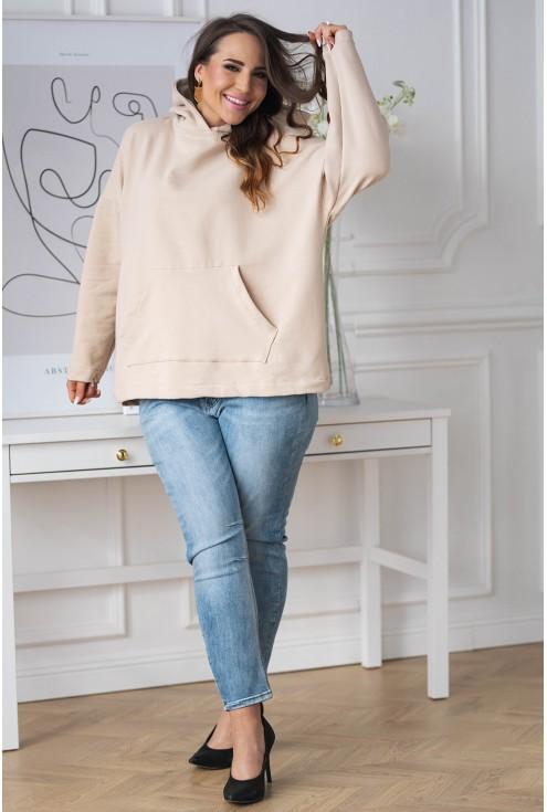 bezowa bluza plus size xxl