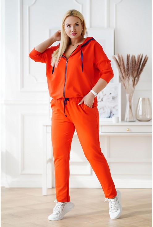 pomarańczowy dres plus size xxl