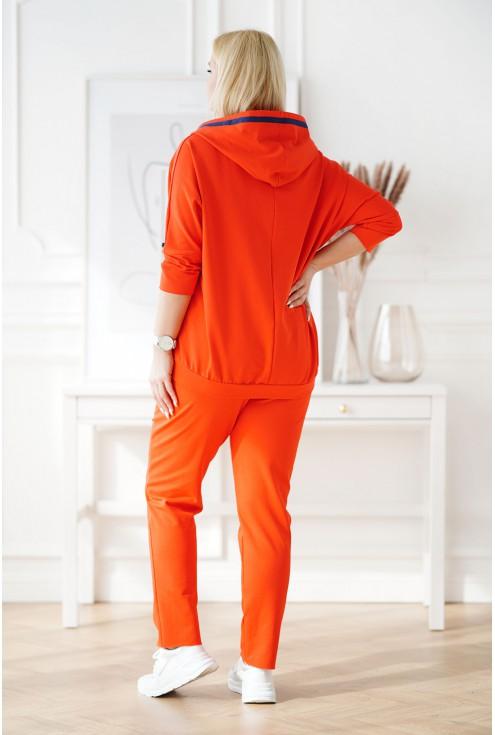 pomarańczowy dres duże rozmiary