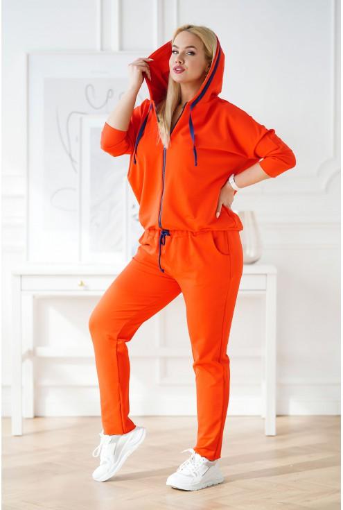pomarańczowy dres duże rozmiary damskie xxl
