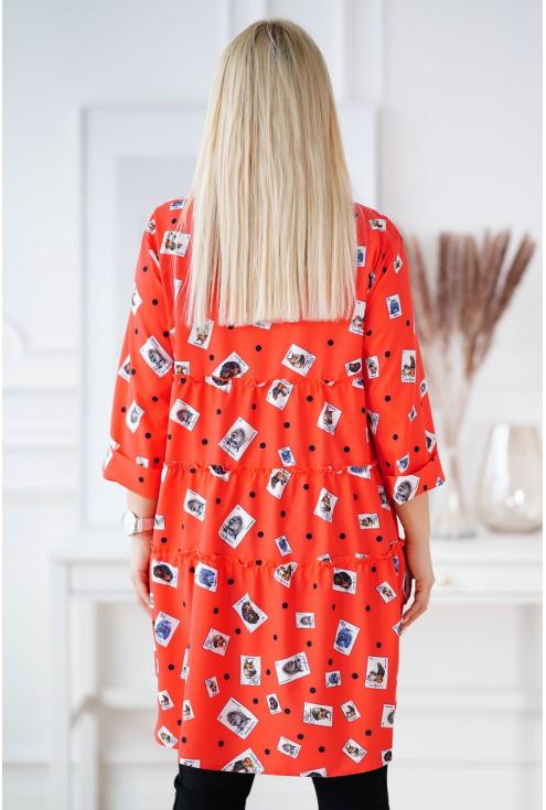 tył pomarańczowej koszuli xxl