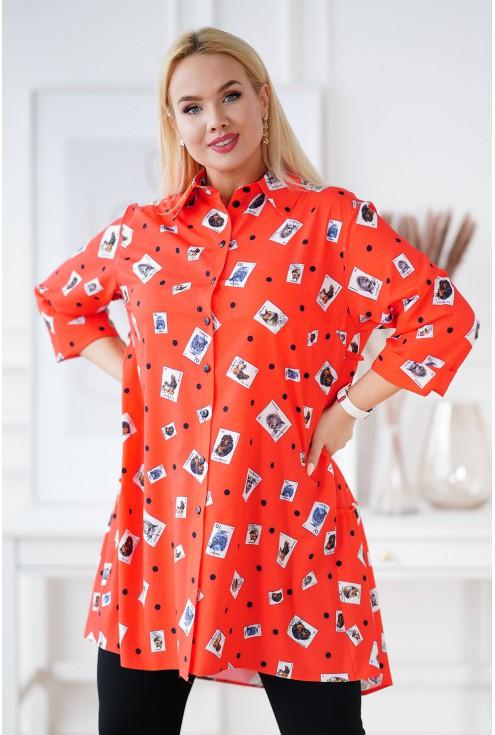 pomarańczowa koszula tunika xxl
