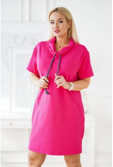 różowa sukienka dresowa plus size natia