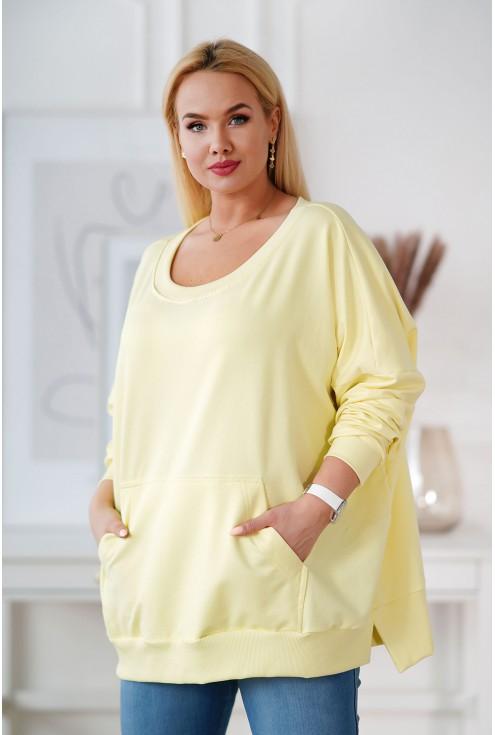 cytrynowa bluza camisa plus size xxl