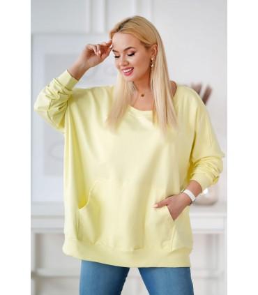 Cytrynowa bluza oversize ze ściągaczami - CAMISA