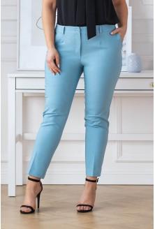 niebieskie spodnie plus size