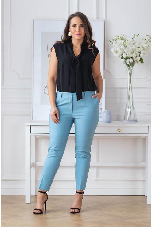 eleganckie spodnie 3/4 w kant XXL