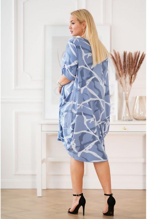 sukienka XXL z wzorem Nasti