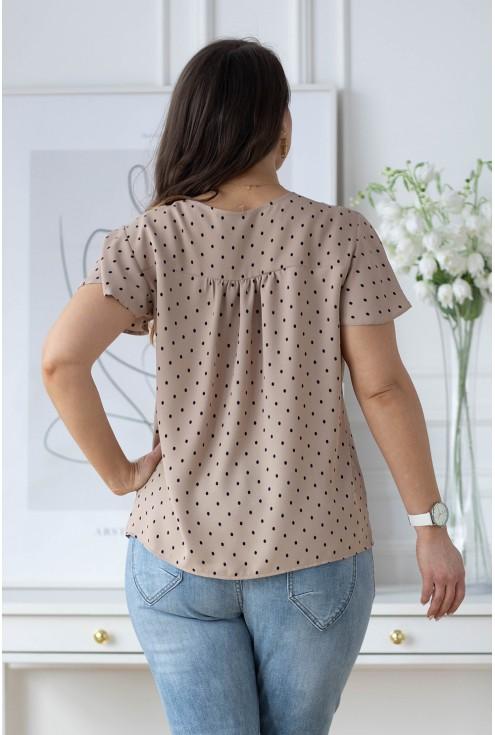 beżowa bluzka plus size Selbi