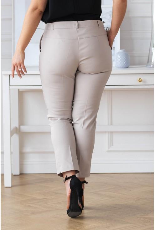 eleganckie spodnie XXL 3/4 w kant