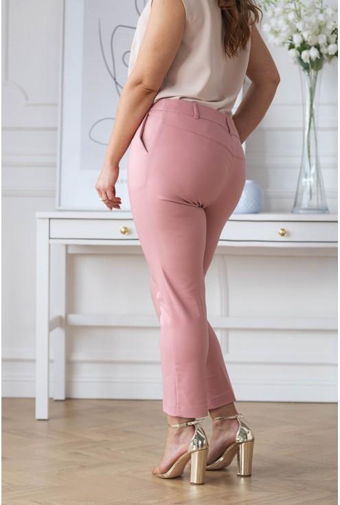 eleganckie różowe spodnie Perra