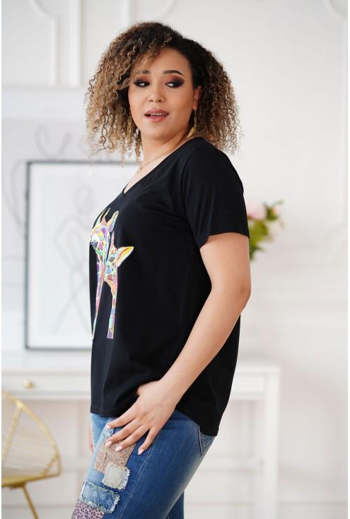 czarny T-shirt XXL Sasha