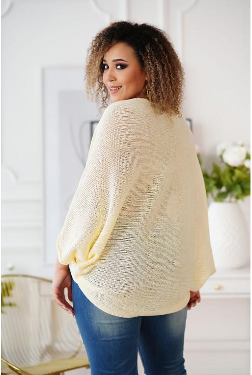 ciepły sweter plus size Camila