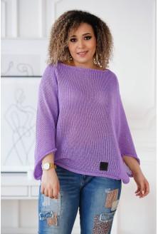 sweterek z obniżoną linią ramion