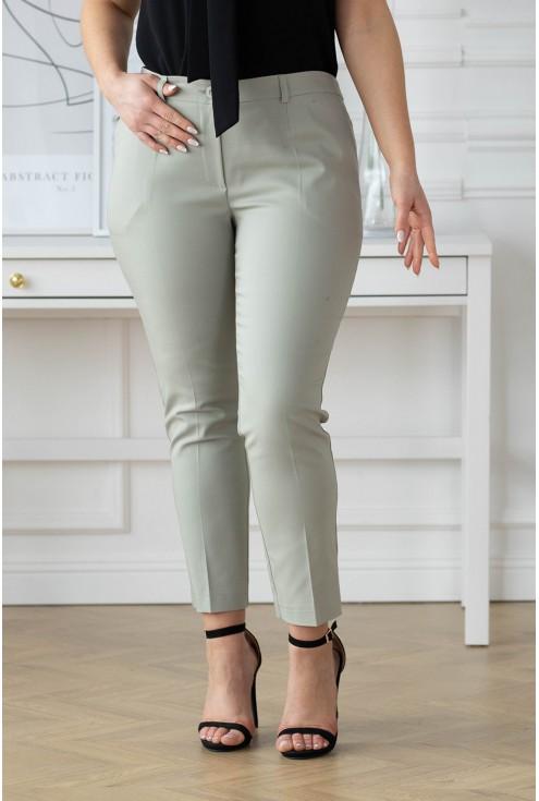 Oliwkowe eleganckie spodnie