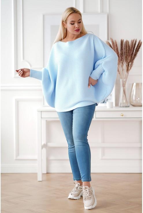 błękitny sweter plus size Peyton