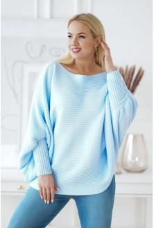 jasnoniebieski sweter plus size