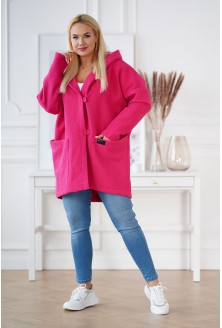 różowy płaszcz XXL Tiffany