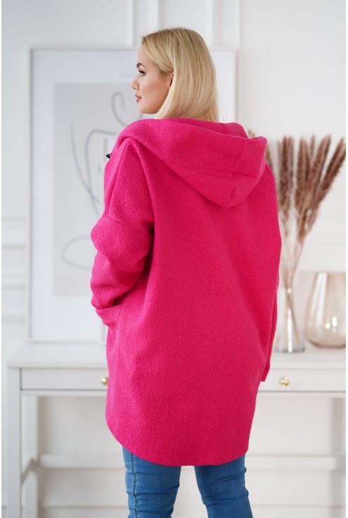 różowy płaszcz plus size Tifanny