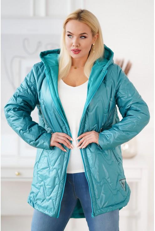 Morska pikowana kurtka XXL