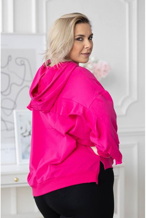 Amarantowa bluza plus size