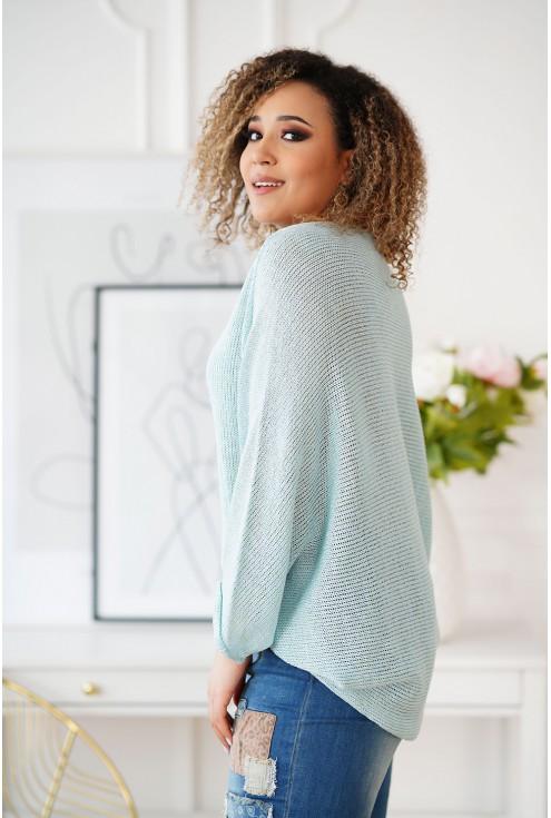 Miętowy sweterek Camila