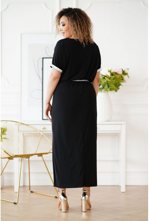 czarna sukienka maxi plus size
